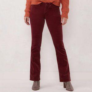 Lauren Conrad Barely Bootcut Corduroy Pants 16